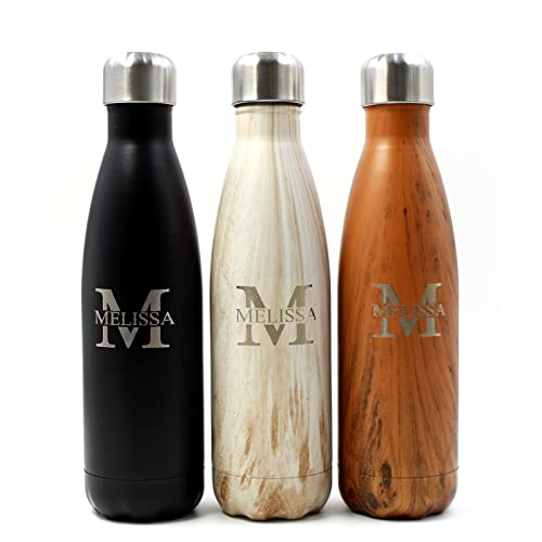 aa83576456 FunnyGuys Customized Engraved Double Walled Stainless Steel Water Bottle  Keeps Your Drink Cold or Hot Personalized