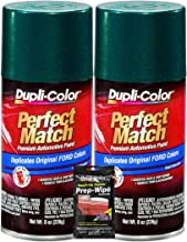 Dupli-Color Deep Jewel Green Metallic Exact-Match Automotive Paint for Ford Vehicles - 8 oz, Bundles with Prep Wipe (3 Items)