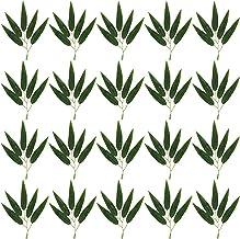 50 stks gesimuleerde bamboe bladeren kunstmatige planten decoraties bamboe takken nep takken ornament voor thuiskantoor (C...