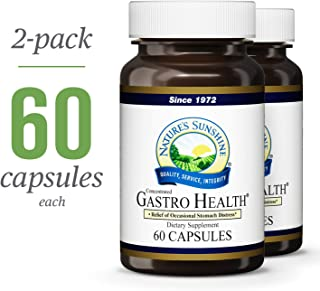 Nature's Sunshine Gastro Health Concentrate, 60 Capsules | 2 Pack | Powerful Natural Blend Delivers 800mg of Unique Herbs Shown to Provide Occasional Indigestion and Heartburn Relief
