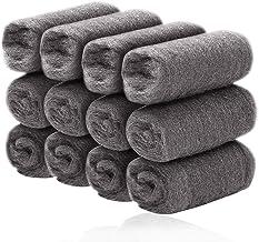 BETOY stalen draadwol, 2 * 12 stuks schoonmaken draad wollen pads, polijsten stalen wol voor het reinigen van ovens en koo...