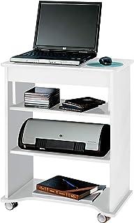 مكتب كمبيوتر علوي على شكل طاولة، أبيض - ارتفاع 29 بوصة × عرض 55 سم × عمق 35 سم، خشب ليفي متوسط الكثافة
