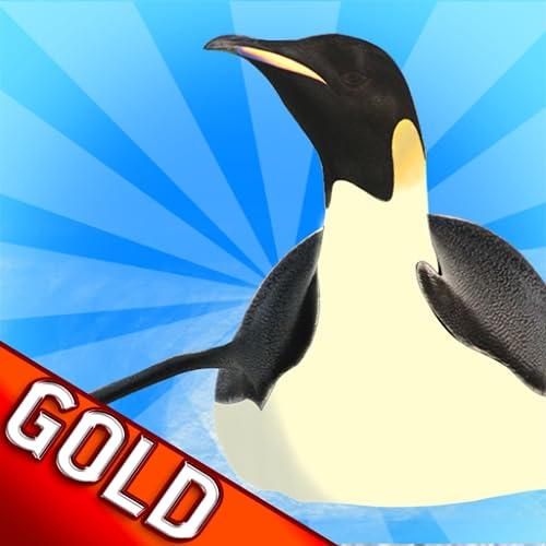 Pinguin gleiten Rennen: der Nordpol kalten Winter Rennen - Gold Edition