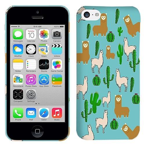 iPhone 5C Case - Llama Cactus Design Pattern Hard Plastic Back Cover. Slim  Profile Cute 22f1b05fee
