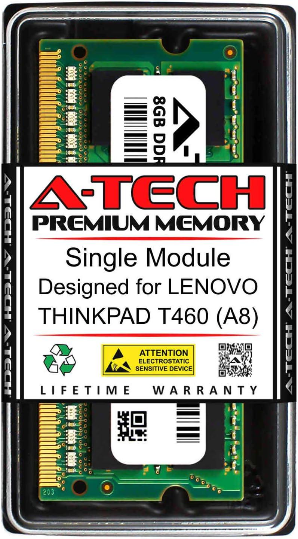 A-Tech 8GB RAM for Lenovo THINKPAD T460 (A8)   DDR3 1600MHz SODIMM PC3-12800 204-Pin Non-ECC Memory Upgrade Module