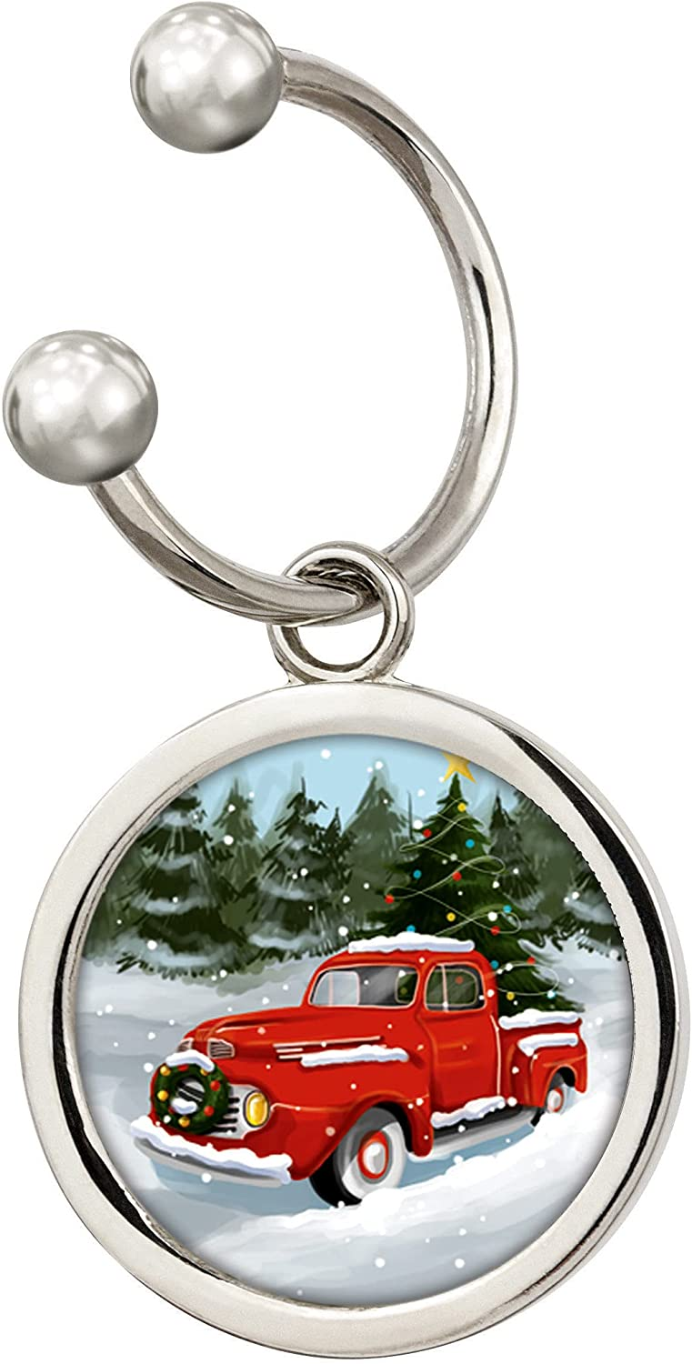 Spasm price Coin Ranking TOP14 Holiday Red Truck Silvertone JFK Colorized Half Keychain