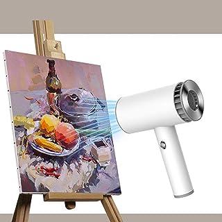 Secador de pelo para estudiantes de arte y examen de ingreso a la prueba de arte, secador de pelo inalámbrico recargable, secador de pelo inalámbrico, ventilador de prueba de dibujo portátil