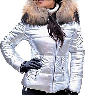 Huluob Mujer Sudadera con Capucha, Saco Moda Mujer Invierno cálido Impermeable Abajo cálido Abrigo de Felpa con Capucha Ch...