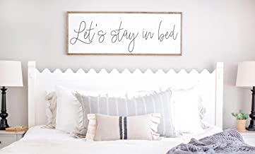 let's stay in bed wall decor