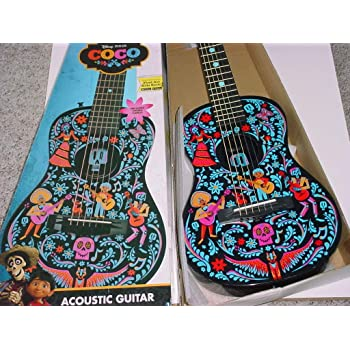 DOFER Toy Coco Guitar Handmade Coco White Guitar Coco Kids Guitar Toy Guitar Version Coco Movie Toys Guitar from Coco The Movie Toy Guitar for Kids Coco Miguel Coco Guitar PARACHO