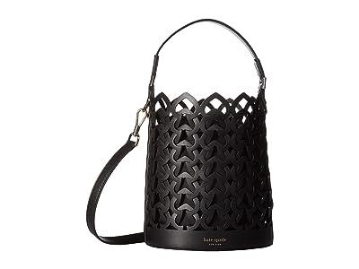 Kate Spade New York Dorie Small Bucket (Black) Handbags