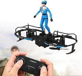Mini Quadcopter Drone, Modo de Vuelo Stunt Rider, niños para Principiantes en Interiores y Exteriores(Blue, Insect)