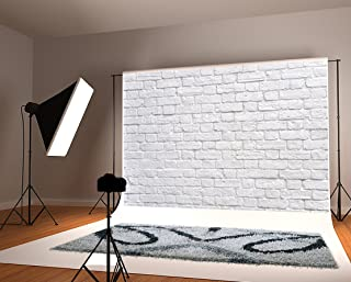 Kate 7x5 White Brick Wall Backdrop Photography Background Cloth Seamless Without Wrinkles