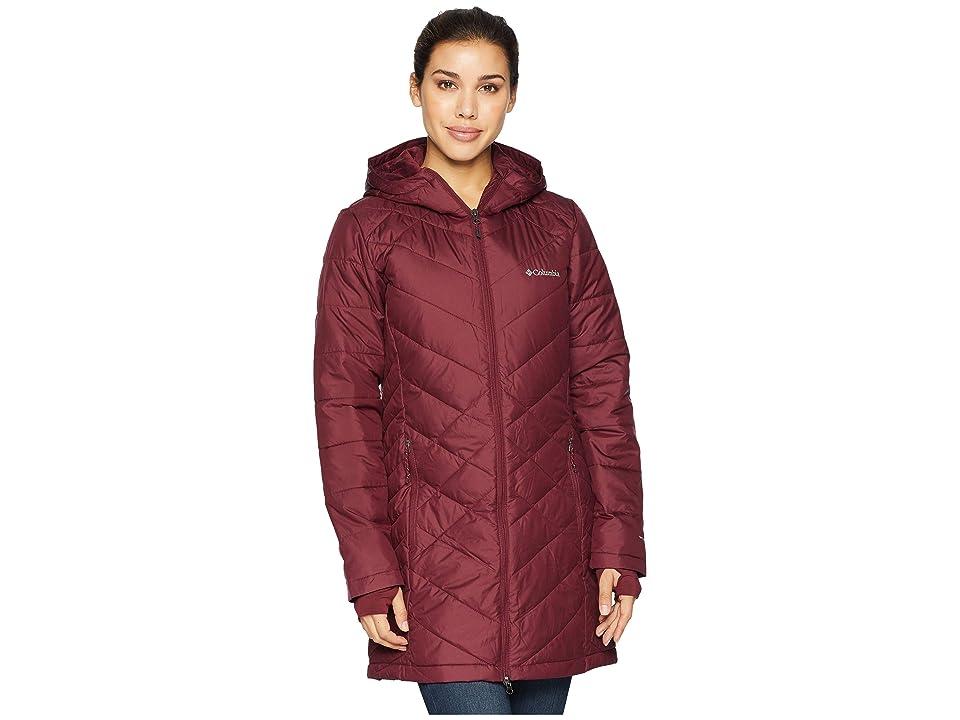 Columbia Heavenly Long Hooded Jacket (Rich Wine) Women