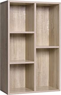 VASAGLE Bibliothèque à 5 casiers, Étagère de Rangement, Colonne de Rangement, Dimensions 50 x 24 x 80 cm (L x l x H), Tein...