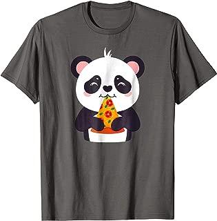 Panda Bear Eating Pizza Cute T-Shirt