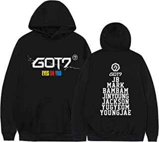 Kpop GOT7 Eyes ON You Hoodie JB Mark Bambam Loose Sweater Pullover Jacket