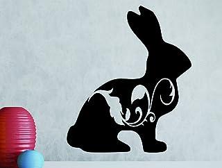 """Design with Vinyl RAD 1071 2""""Bunny Fancy Design"""" Vinyl Wall Decal, RAD 1071 3"""