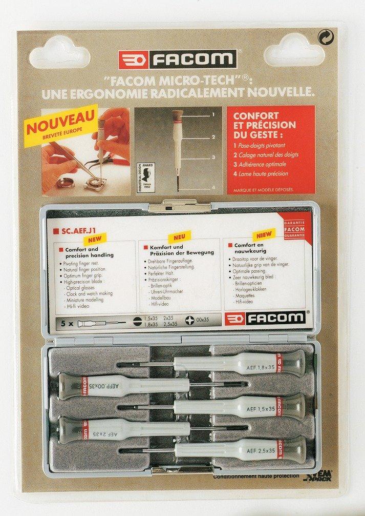 Juego de destornilladores Facom Micro-Tech – Estuche de 5: Amazon.es: Iluminación