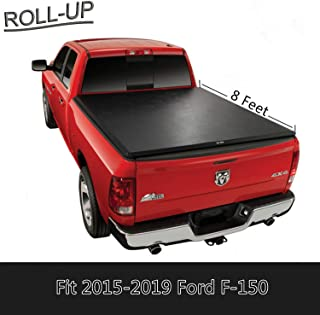 U-Drive Auto Lock Soft Roll Up Tonneau Cover for 2015-2018 Ford F150 Stlyside with 8 Feet / 96 inch Bed Only
