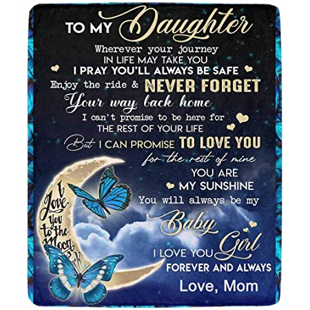 Details about  /Butterfly Cozy Push Fleece Blanket  Mom Gift For Beautiful Daughter Remember