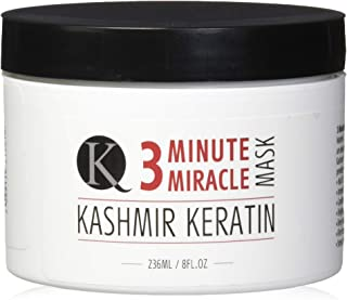Kashmir Keratin 3 Minute Miracle Treatment Mask Deep Conditioning Sulfate and Paraben Free (8 Fl. Oz.)