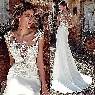 ztmyqp Simplicidad Elegante Vestido de Novia Sirena Suave Y Suave de Satén Simplicidad Elegante Vestido de Novia Apliques ...