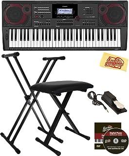 Casio CT-X5000 61-Key Keyboard Bundle with Adjustable Stand,