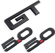 GT Emblem + 5.0 Emblem x 2 for Ford Mustang Badge Decal (Matte Black)