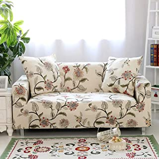 HOTNIU Stretch Sofa Couch Cover - Fitted Pattern Slipcovers 1 2 3 4 Seat Armchairs/Loveseats/Sofas/Sectional Couches (Chair 35
