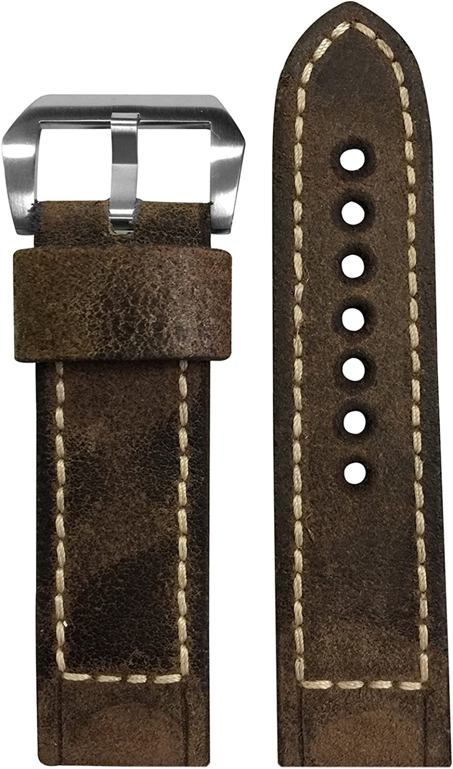 RIOS1931 Same day shipping Vintage Leather Watch Band Paner with Box Soldering Stitching for