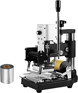Happybuy Hot Foil Stamping Machine 300W Hot Foil Stamping Hot Foil Embossing Machine Tipper Stamper Bronzing with Sliver Gold Foil Paper (Hot Foil Stamping Machine)