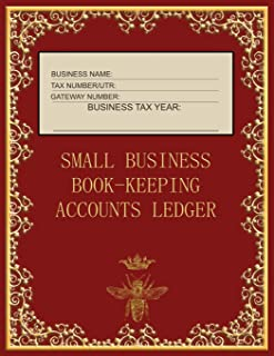 Small Business Book-Keeping Accounts Ledger: Large Book-keeping ledger for the small business and self-employed - Burgundy...