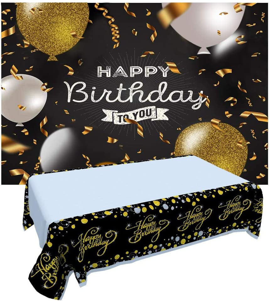 2 PCS Happy Birthday Party Decoration Banner Extra Large Fabric