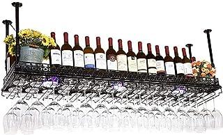 FCXBQ Casier à Verre à vin casier à vin inversé, Support de décoration de Plafond en Fer Classique, étagère Murale, utilis...