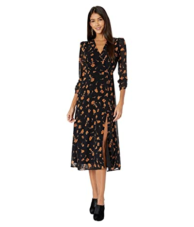 ASTR the Label Joni Dress (Black Amber/Floral) Women