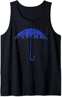 Seattle Skyline Umbrella Rain Graphic Art T Shirt Tank Top