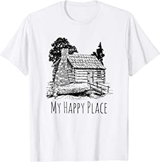 My Happy Place A Cabin in the Woods T-Shirt