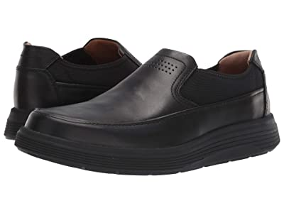 Clarks Un Abode Go (Black Leather) Men