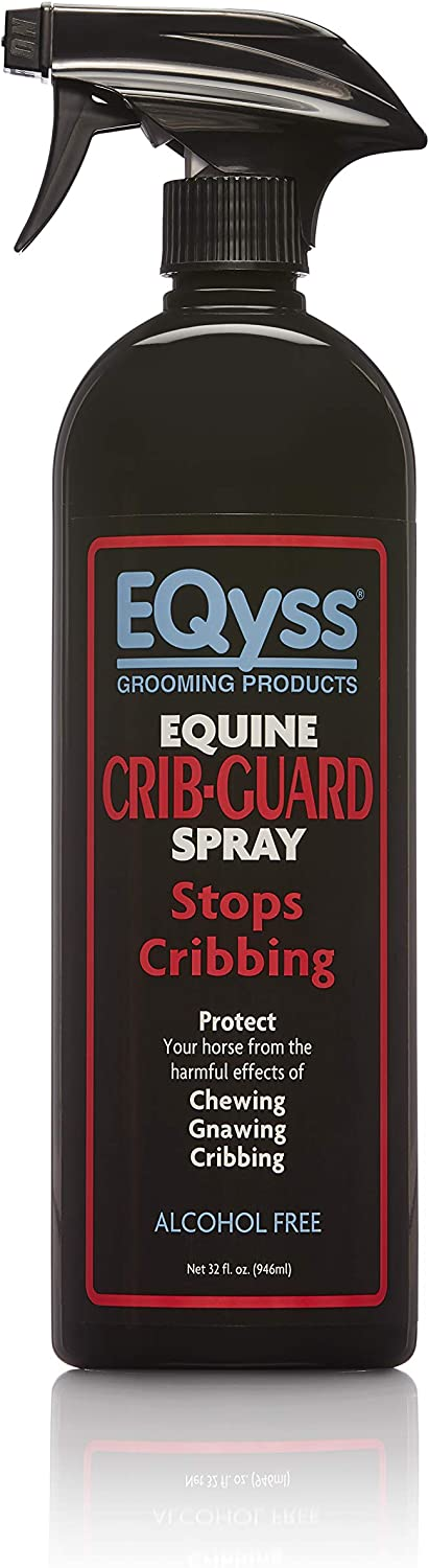 EQyss Crib Guard Equine Spray 32oz - Guaranteed to Stop Your Horse from Chewing and Cribbing : Pet Supplies