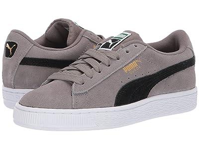 Puma Kids Suede Classic (Big Kid) (Charcoal Gray/Puma Black) Boys Shoes