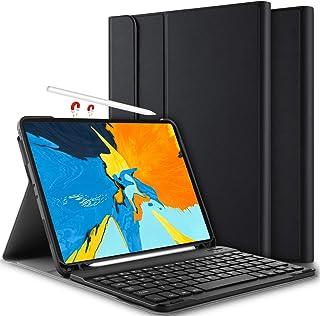 comprar comparacion Yocktec Funda con Teclado para iPad Pro 11 2018 QWERTY, Ultra-Delgado Desmontable Funda/Funda con Teclado Bluetooth para...