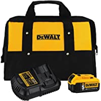 DeWalt DCB205CK 20V Max 5.0Ah Lithium-Ion Battery and Charger Kit with Bag