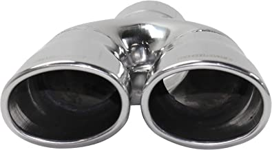 Kool Vue KV160114 Exhaust Tip for 94-95 Acura Legend Stainless Steel Dual Oval Single Wall Slanted W/2.4 Inch Inlet