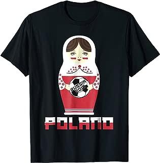 Poland National Flag Dressed Matryoshka Soccer Fan Shirt
