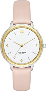 Kate Spade New York Women's Quartz Watch analog Display and Leather Strap, KSW1507