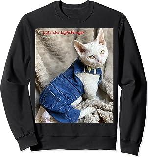 Denim Cat Sweatshirt