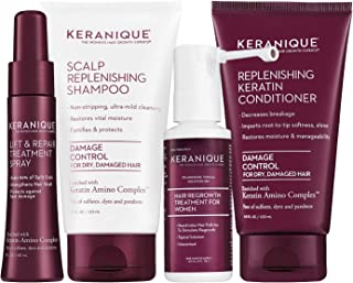 Keranique Hair Regrowth System, Free of Sulfate, Dye, and Parabens, Keratin Amino Complex, 30 Day Kit