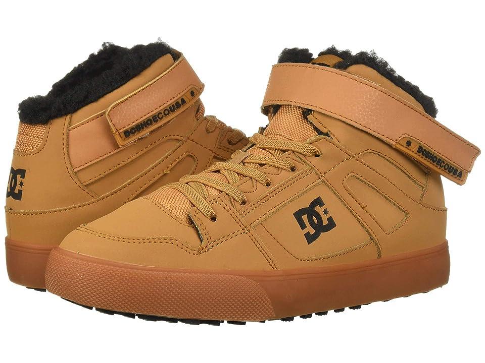 DC Kids Pure High-Top WNT EV (Little Kid/Big Kid) (Wheat) Boys Shoes