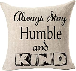 Leisure-Time Funda de Almohada Throw Pillow Family Stay Always Humble and Kind pc